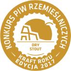 Złoty medal<br /></noscript> KRAFT ROKU<br /> 2017<br /> (Dry Stout)